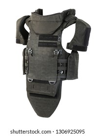 Bulletproof vest, body armor covers, Camouflage, black on white background