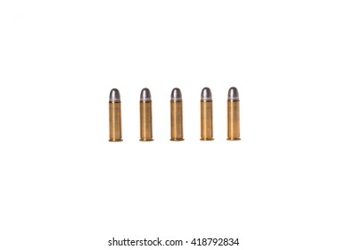 bullets .38mm on white background