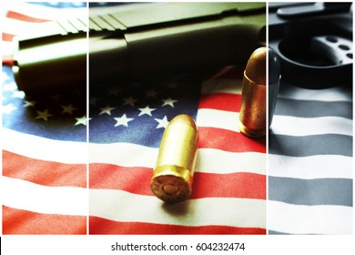 Bullets & The American Flag  High Quality