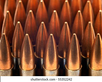 bullets ammunition in a row
