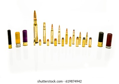 Bullets isolated background