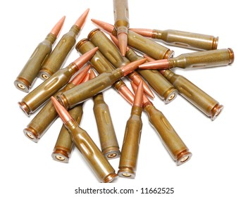 Bullets isolated over a white background