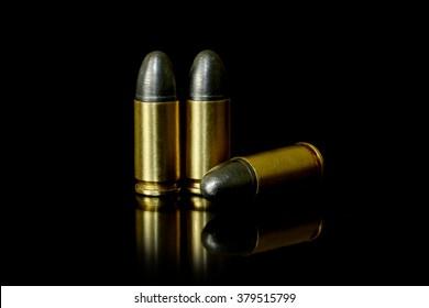 Bullets on black background