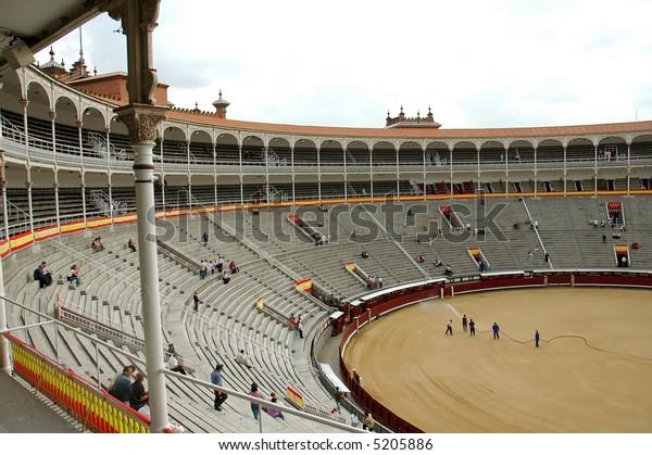 Bullfight Arena Square, Madrid - Spain .