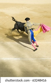 A bullfight in southern spain