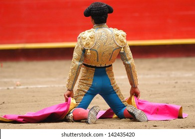 Bullfighter in the ring