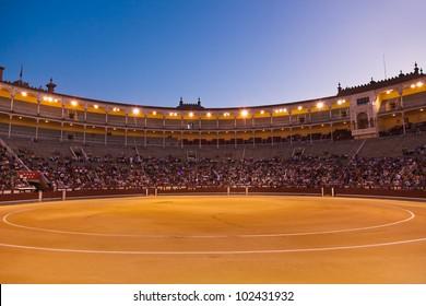 Bullfighting arena - corrida at Madrid Spain