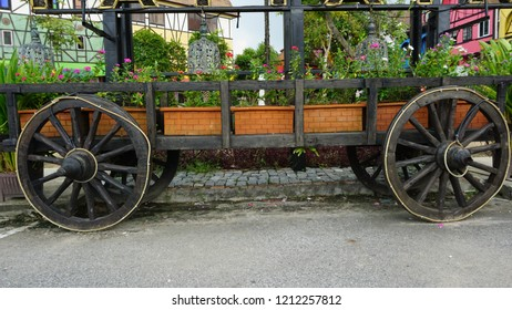 A bullock cart or ox cart is a two-wheeled or four-wheeled vehicle pulled by oxen.