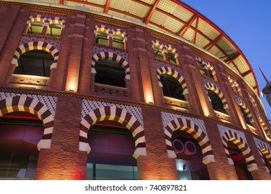 Bullring arenas in barcelona, is a traditional bullring converted into a shopping center