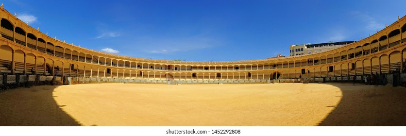 Bullring in Ronda, one of the oldest and most famous bullfighting arena in Spain.