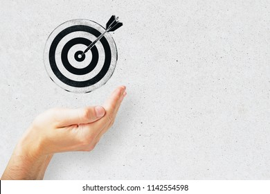 bullseye is a target of business, dart is an opportunity and dartboard is the target and goal. challenge in business marketing concept.