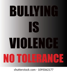 bully sign on gradient background with red and black letters no tolerance