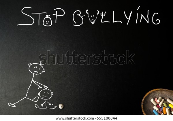 Bullyingchild Abuse Child Hitting Another Stop Stock Photo (Edit Now