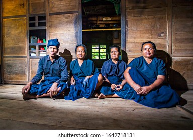Bulukumba, South Sulawesi, Indonesia : Portrait of Kajang Tribe people, an indegenouse tribe in their traditional house in Bulukumba Regency, South Sulawesi (09/2013)