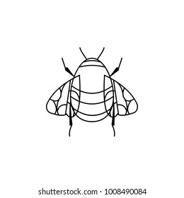 bumblebee icon. Insect world elements icon. Premium quality graphic design icon. Simple line icon for websites, web design, mobile app, info graphics on white background