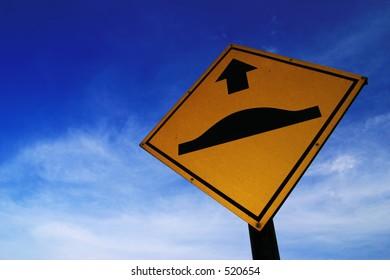 """Bump Ahead"" sign"