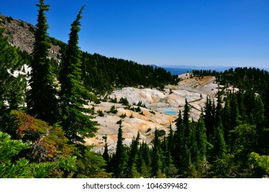 Bumpass Hell, the largest hydrothermal site in Lassen Volcanic National park