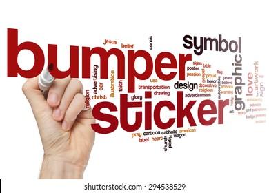 Bumper sticker word cloud concept