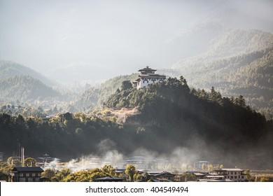 Bumthang Dzong monastery in the Kingdom of Bhutan.