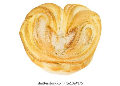 bun, bakery isolated on a  white background