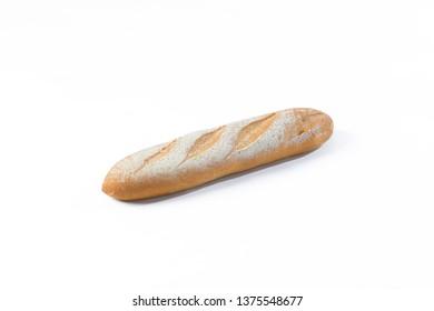 Bun bread bakery on white background