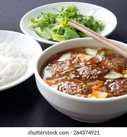 Bun Cha, a Northern Vietnamese specialty.