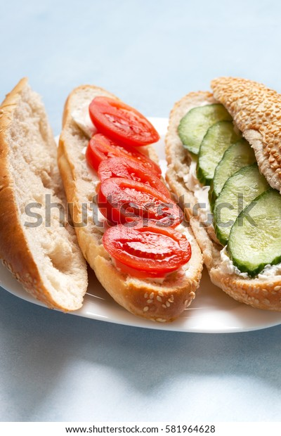 Bun with cottage cheese