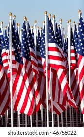 Bunch of American flags