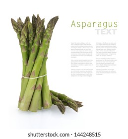 Bunch of asparagus with copy space for text