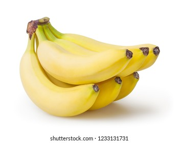 Bunch of banana isolated on white background with clipping path