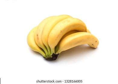 Bunch of bananas fruit isolated on white background