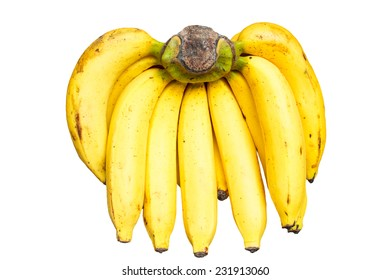 bunch of bananas isolate on white background.
