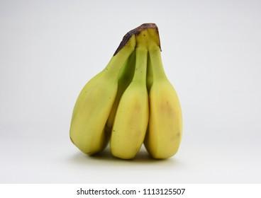 Bunch bananas isolated