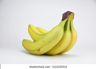 Bunch bananas isolated on white background studio
