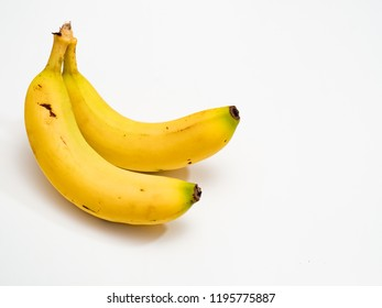 Bunch of bananas isolated on white background Clipping Path