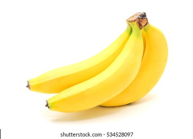 Bunch of bananas isolated on a white background, Closed up with clipping Path