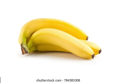 Bunch of bananas isolated on a white background.