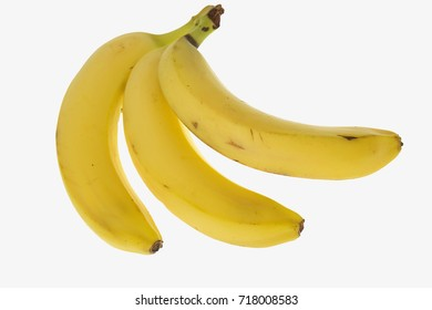 Bunch of bananas on a white background