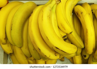 bunch of bananas in the store