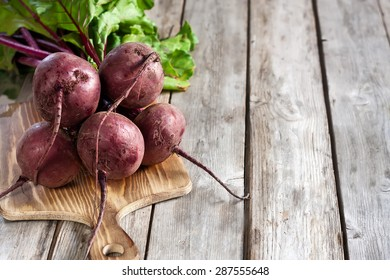 Bunch of beetroots. Copy space background.