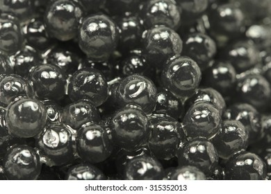 bunch of black caviar abstract background