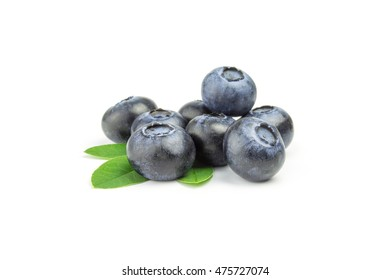 bunch of blueberry on a white background.