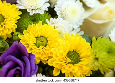 Bunch of bright colourful flowers. Background of flowers