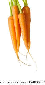 bunch of carrots isolated on white