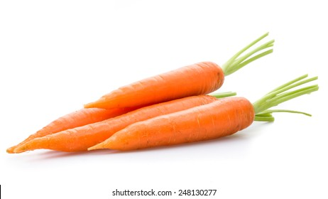 A bunch of carrots on a background