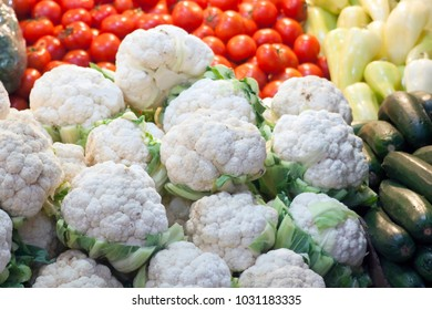 A bunch of cauliflower fresh from the farm