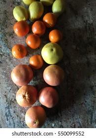 A Bunch of Citrus Fruit