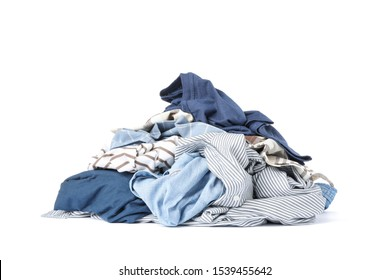 Bunch of clothes isolated on white background