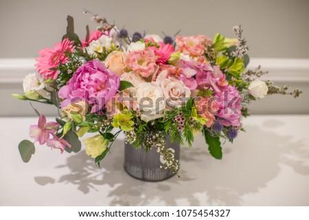 Bunch Flowers Beautiful Bouquet Birthday Stock Photo Edit Now