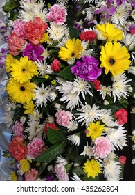 Bunch of flowers, Florist hands with big floral bouquet